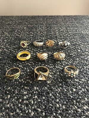 Lot of 10 Vintage Costume Jewelry Ring Lot Avon