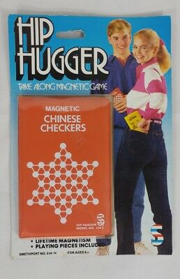 1987 Hip Hugger Magnetic Chinese Checkers Take Along Game MOC New