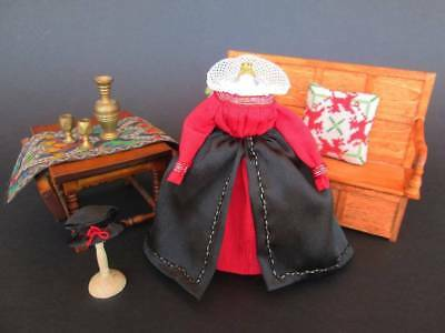 1:12 OOAK miniature dress for doll & dollhouse - dresses for dollshouse
