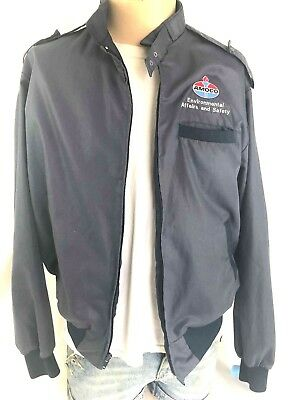Vintage Amoco Company Gas Station Jacket Environmental Affairs & Safety L 44-46