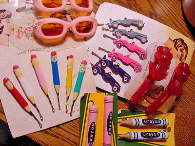 Lot 31 pcs VINTAGE Child's Girl HAIR JEWELRY Accessories BARRETTES HAIR PINS-NOS