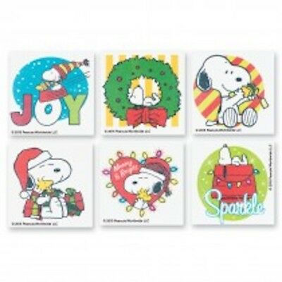 12 Peanuts Christmas Tattoos Party Favors Snoopy Woodstock Secret