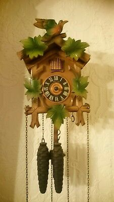 Small cuckoo clock vintage needs hands and service spares or repairs antique
