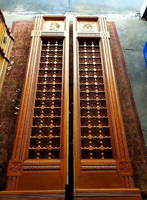 Wesson Springfield Hospital Ma Fretwork Architectural Salvage Stick/Ball Panels