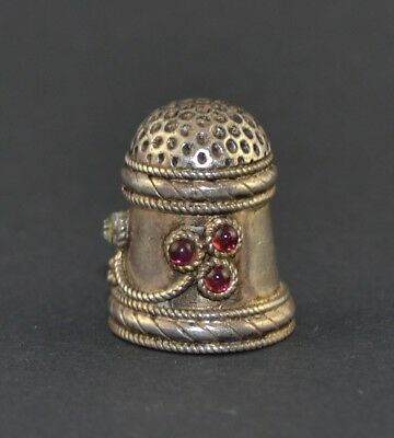 Streling Silver 925  Thimble With Stone