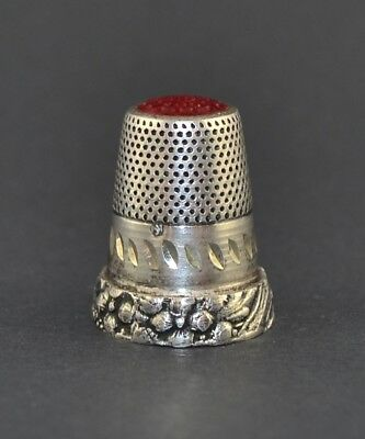 Sterling Silver Red Top Thimble,