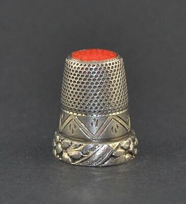 Sterling Silver Orange Top Thimble