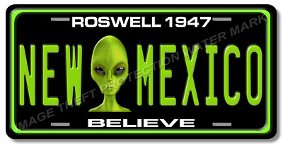 Roswell New Mexico 1947 Aliens BELIEVE License Plate Tag Auto Car Truck Gift New