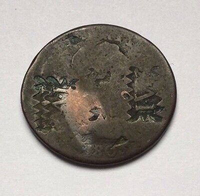 "1803 One Cent Draped Bust ( Counter Stamped "" I.v. "" )"