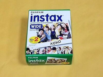 Fujifilm Instax - Color instant film  (10 Sheets x 2 Packs)  ISO 800 Exp 06-2018