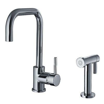 Whitehaus Jem Collection Single Handle Side Sprayer Kitchen Faucet In  Polished C
