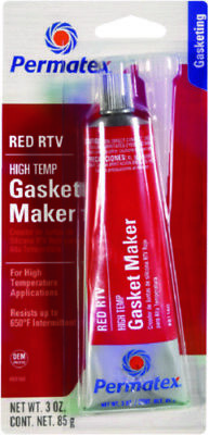 Permatex  High Temp Red RTV Silicone Gasket Maker 3 Ounce Resists Cracking