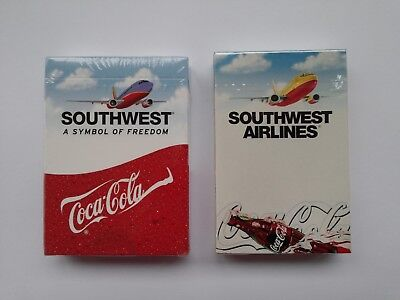 2 - Coca Cola & Southwest Airlines Sealed Playing Card Decks