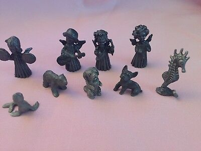 Mixed Lot Of 9 Pewter Figurines