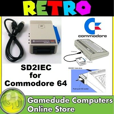 SD2IEC Commodore 64 & VIC-20 Floppy Drive Emulator Supplied with Cable  [F03]