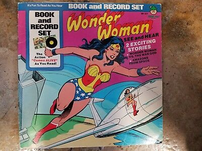 Wonder Woman Book and Vinyl Record set (Peter Pan Records 1977)