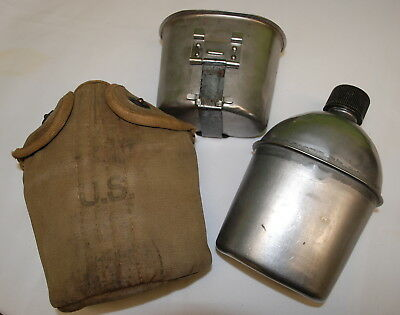 U.S. Canteen,Cup & Cover. 1944 British Made