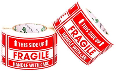 """1000 Large 3""""x5"""" Handle with Care Fragile This Side Up Shipping Labels Stickers"""