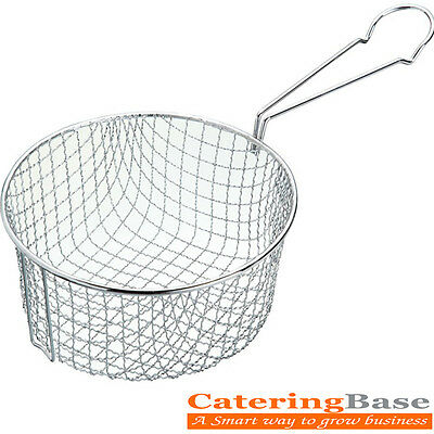 "Commercial Chips Frying Basket 7"" Ideal for Sweet Sour Chicken Ball, Spring Roll"