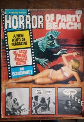 Famous Films Horror Of Party Beach magazine 1960s comic