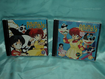Ranma 1/2 TV OST 1 & 2  CD Soundtracks US release (lot of 2 CDs) *new/sealed*