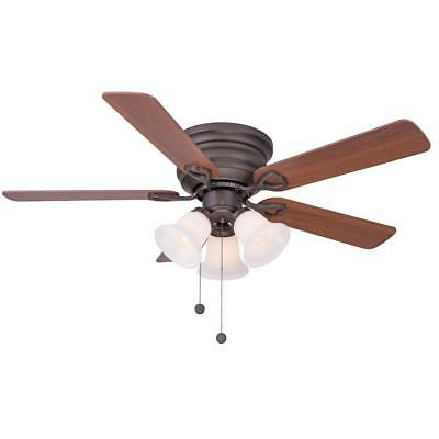 Clarkston 44 in. Indoor Oil Rubbed Bronze Ceiling Fan with Light Kit  / 388
