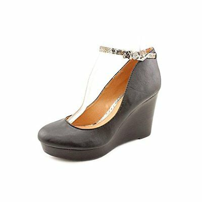 Report Womens Azaria Closed Toe Ankle Strap Wedge Pumps, Black, Size 9.0