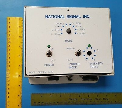 US Traffic Corporation, Model 1930, National Signal, 2009036, For Parts Only