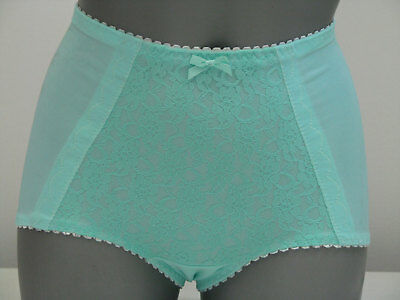 Vintage Aqua Panty Girdle L lace pinup clothing girl shapewear retro 1950s