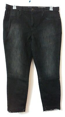 Mossimo High Rise Cropped Jeggings Raw Hem Women's Stretch PLUS Size 16 NWT *K