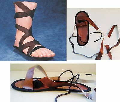 5499c70f453a ROMAN Sandals Med OR Lrg Adult Soldier Gladiator Easter Halloween Costume