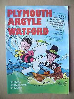 1984 FA CUP SEMI FINAL- PLYMOUTH ARGYLE v WATFORD, 14th April