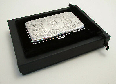 Victorian SILVER Stamp Coin Note Card Aide Memoire Wallet Cigarette Purse Case