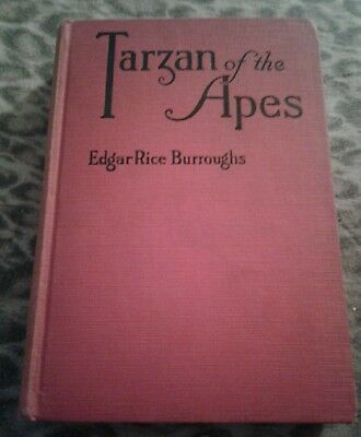 "1914 Hard Back Book entitled ""Tarzan of the Apes"" by Edgar Rice Burroughs"