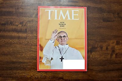 Time Magazine Pope Francis Catholic Church Vatican New World Pope March 25, 2013
