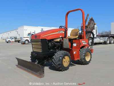 2013 Ditch Witch RT45 Ride-On Trencher Tractor Backfill Blade Side Shift bidadoo