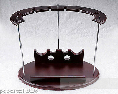 New European Fashion Decoration Wooden 2 Bottles Wine Glass Rack Holder &$