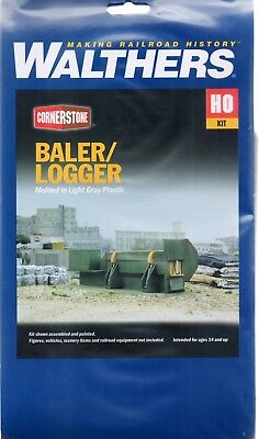 HO Scale Walthers Cornerstone 933-3631 Metal Scrap Baler/Logger Kit