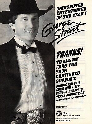 George Strait 1 Page Magazine Picture Clipping