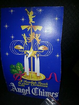 Vintage Swedish Angel Chimes with Cherubs and Horses - Includes 4 White Candles
