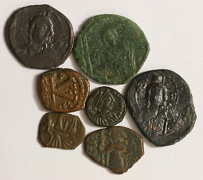 Mix Lot Of 7 Ancient Byzantine Coins