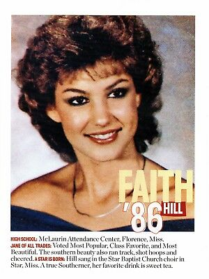 Faith Hill 1 Page Picture Clipping Country Music
