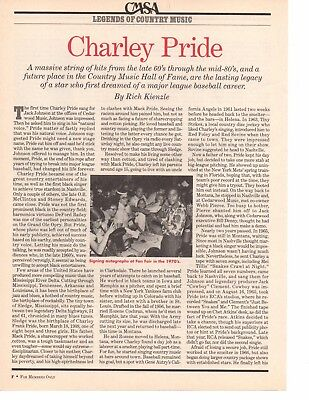 Charley Pride 2 Page 1996 Magazine Article Clipping 2 Pictures Country Music
