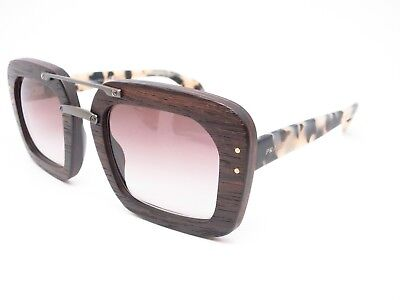 Prada Womens SPR 30R UBT0A7 Dark Wood Havana Sunglasses