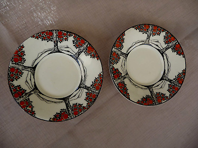 Crown Ducal Ware Orange Tree Saucers/pin Dishes