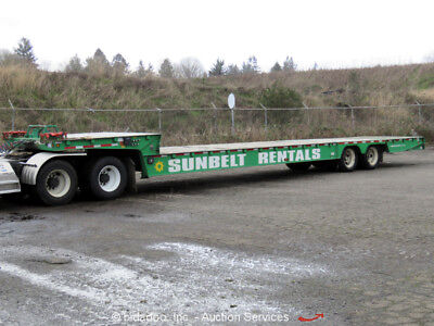 2008 Trail King TK70HT-482 Hydraulic Dove Tail Heavy Equipment Trailer Winch