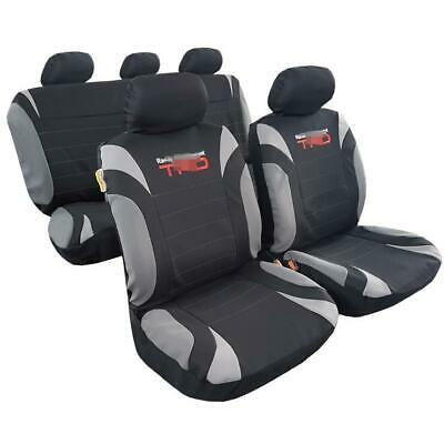 Brand New Embroidery 9pcs Polyester Gray Black Car Seat Covers For Tundra