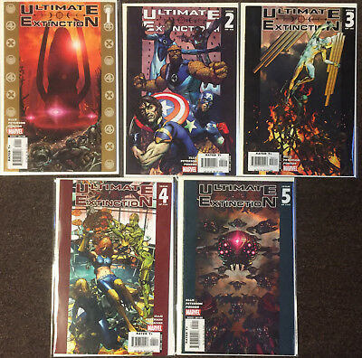 Ultimate Extinction # 1 2 3 4 5 Marvel Complete Set Warren Ellis Captain America