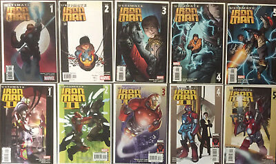 10 Ultimate Iron Man (Series 1 & 2) #1 2 3 4 5 Orson Scott Card Complete Set NM