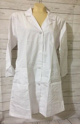 Natural Uniforms Unisex 40 Inch Lab Coat, White Large